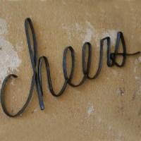 Scrap Iron Cheers Wall Sign - Eclectic - Artwork - atlanta ...