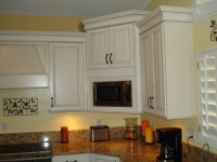 Love the corner microwave cabinet, how deep are the uppers?