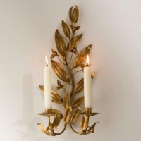 Gold Candle Wall Sconces - Kids Art Decorating Ideas