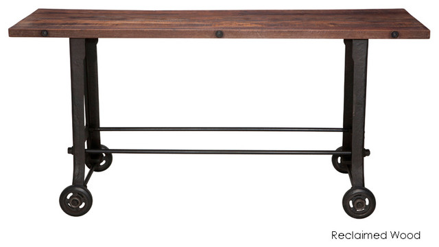 V17 Bar Table, Reclaimed Wood Top