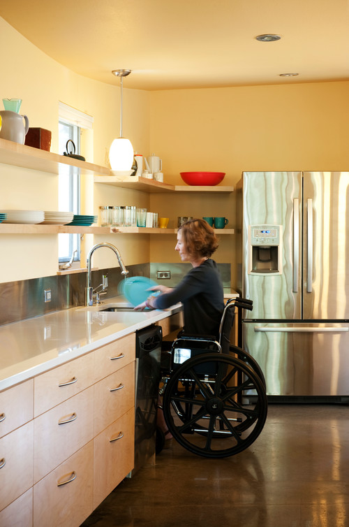 Accessible Upper Kitchen Cabinets Wheelchair Accessible Kitchen By Studio 512