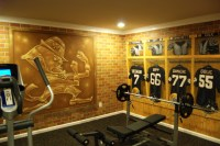 Notre Dame Football Locker Room Mural by Tom Taylor of Wow ...
