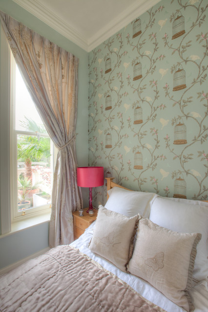 Duck Egg Wallpaper Bedroom Ideas Duck Egg And Pink Bedroom - Contemporary - Bedroom