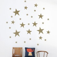 Stars Kids Wall Sticker in Gold - Modern - Wall Decals ...