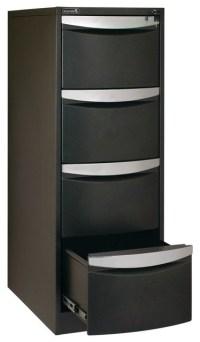 Stilford 4 Drawer Filing Cabinet Black