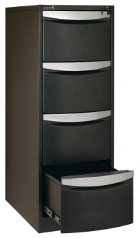 Stilford 4 Drawer Filing Cabinet Black - Contemporary ...