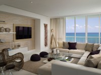 Miami Beach Penthouse - Beach Style - Living Room - other ...
