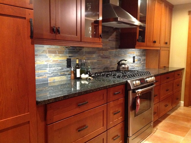 kitchen remodel cherry cabinets slate backsplash ubatuba granite kitchen backsplash sandstone backsplash kitchen sandstone splashback