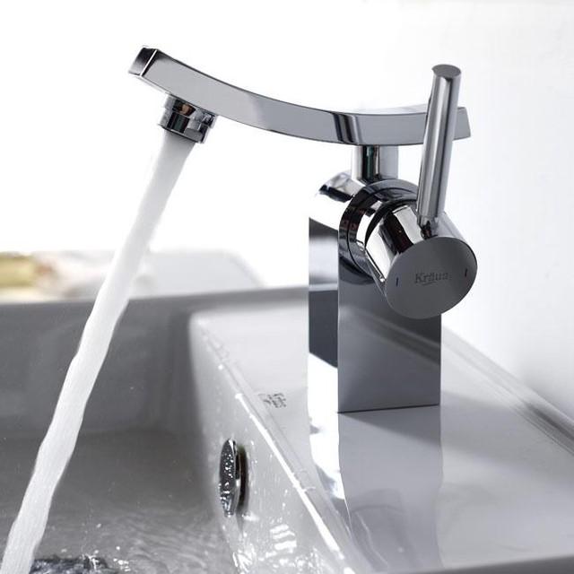 Kraus kef 14301ch unicus single lever basin faucet