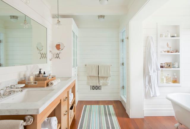 Santa monica beach house beach style bathroom los angeles by
