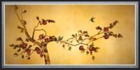 Birds on Plum Tree Canvas Wall Art - Traditional - Artwork ...