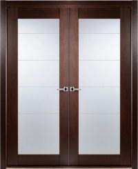 Contemporary African Wenge Interior Double Door Lined ...