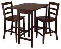 Lynnwood 3-Pc Drop Leaf High Pub Table Set - Contemporary ...