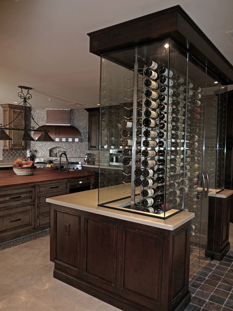 Wine Cellar Kitchen Remodel Eclectic Kitchen Other