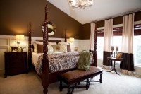 Master Bedroom Cream and Brown - Traditional - Bedroom ...
