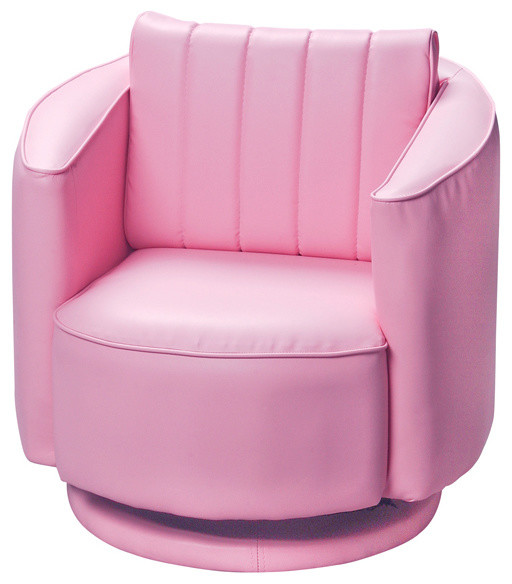 Kids children adult upholstered swivel chair pink modern accent chairs