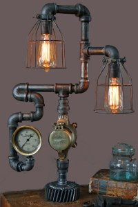 Machine Age Lamps Steampunk Gear Steam Gauge - Eclectic ...