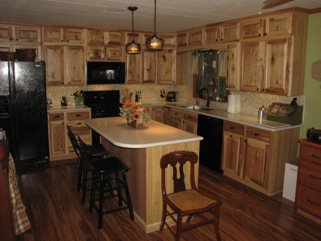 Denver hickory stock sweigart traditional kitchen