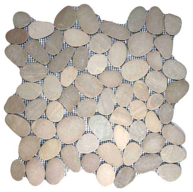 Sliced java tan pebble tile rustic tile other metro