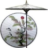 Asian Splendor (Beijing White) Outdoor Patio Umbrella ...