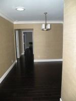 Family Room With Dark Wood Floors