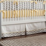 Yellow And Gray Baby Crib Skirts