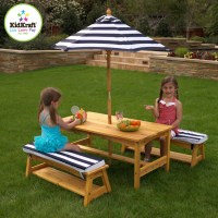 Kids Kraft Outdoor Table and Chair Set with Cushions and ...