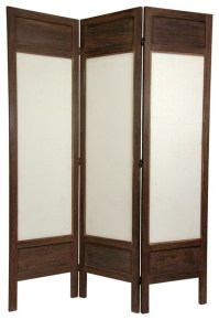 6 ft. Tall Solid Frame Fabric Room Divider (3 - Asian ...