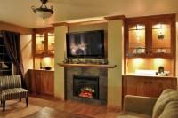 Cedar Falls Fireplace Wall - Contemporary - Family Room ...