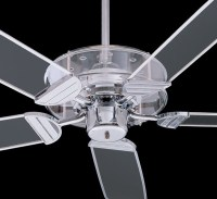 Quorum International Prizzm Ceiling Fan, Clear Acrylic