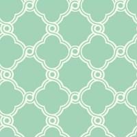 Fretwork Trellis Wallpaper Mint Green/White Double Roll ...