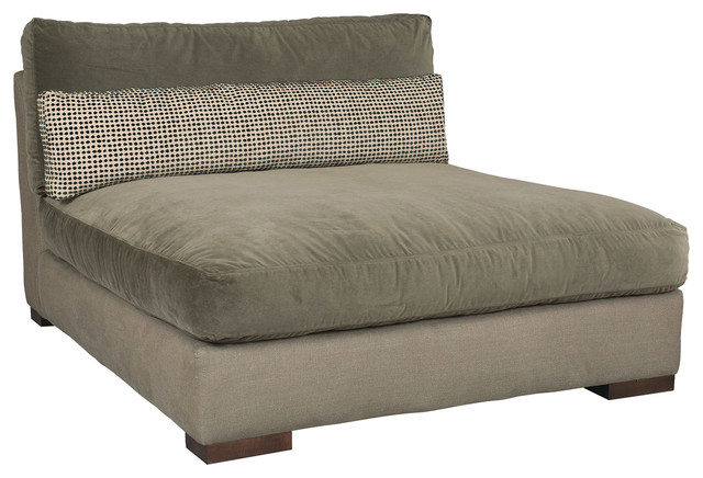Kinzie armless chaise modern indoor chaise lounge