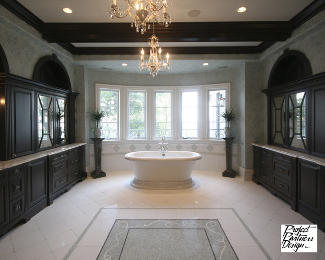 Luxury Tv Dream Master Bath - Traditional - Bathroom - Chicago - By