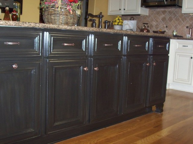 Can You Use Chalk Paint For Kitchen Cabinets Cabinet Refinish/black Cabinets/faux Finish/wood Finishes