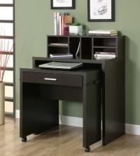 Space Saver Computer Desk - Cappuccino Hollow Core Open ...