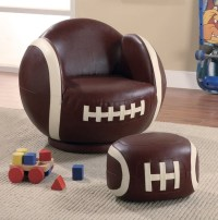 Small Football Chair and Ottoman - Eclectic - Kids Chairs ...