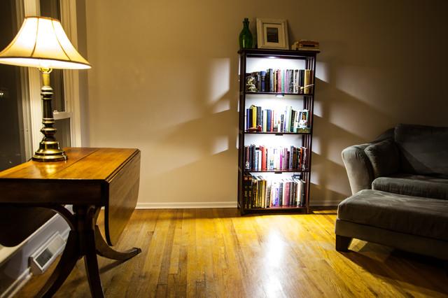 Led Bookcase Lighting Traditional Living Room St