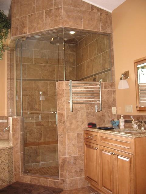 Custom steam shower traditional bathroom