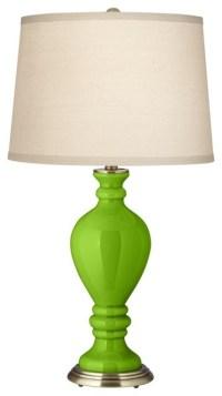 Contemporary Neon Green Civitia Table Lamp - Contemporary ...