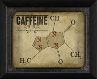 Caffeine Molecule Framed Artwork - Contemporary - Prints ...