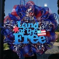 Patriotic Star Fourth of July Wreath by Dziner Doorz ...