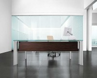 Amazon Krystal Executive Desk by Uffix - Modern - Desk ...