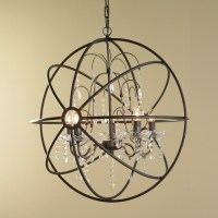 Crystal and Metal Orb Chandelier - Chandeliers - by Shades ...