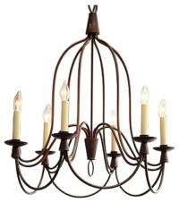 Pre-owned William Sonoma 6 Light French Country Chandelier ...
