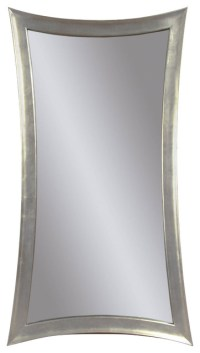 silver bathroom mirror rectangular