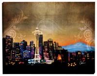 Seattle Skyline Illuminated Wall Art - Contemporary ...