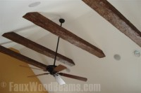 Faux Exposed Rafter Living Room - Living Room - new york ...