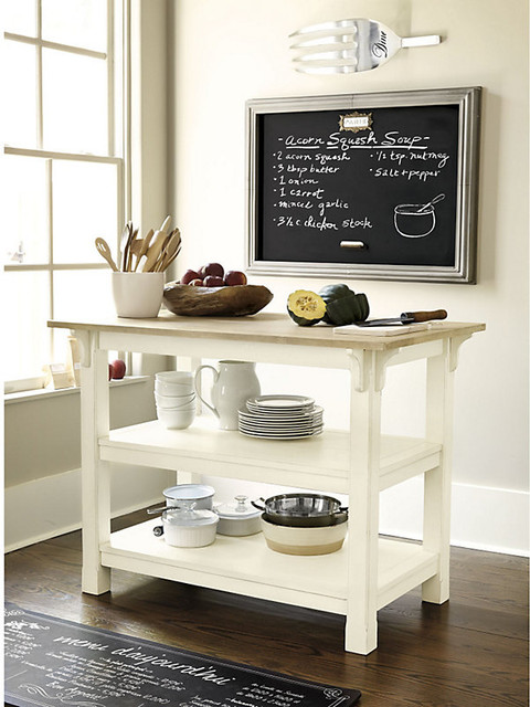 Ballard Designs Kitchen Island Adler Work Table - Farmhouse - Kitchen Islands And Kitchen