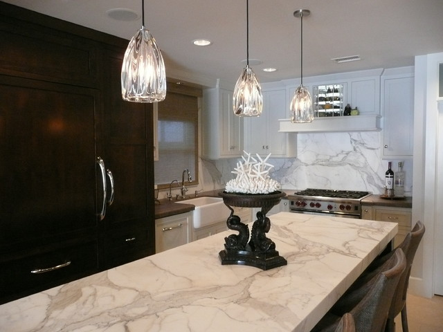 Calacatta gold extra slab kitchen other metro by