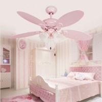 Cute Pink Girls Ceiling Fan Lights European Style - Modern ...